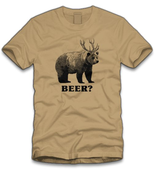 beer t shirt Bear Plus Deer Equals Beer T Shirt