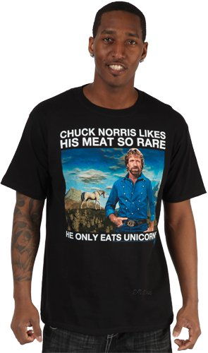 chuck meat t shirt Chuck Norris Likes His Meat So Rare He Only Eats Unicorns T Shirt