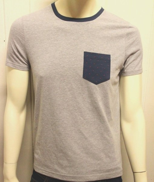grey contrast pocket t shirt Grey Contrast Pocket T Shirt