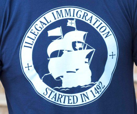 illegal immigration started in 1492 t shirt Ban T shirts: Shirt Shop Interview