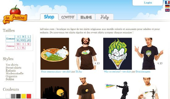 la fraise screencap Lafraise: Shirt Shop Interview