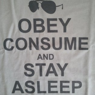 obey consume and stay asleep t shirt Stealthy Giant: Shirt Shop Interview