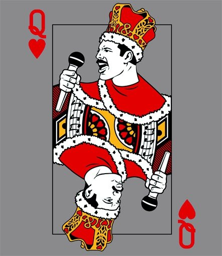 queen of hearts t shirt Freddie Mercury Queen of Hearts T Shirt