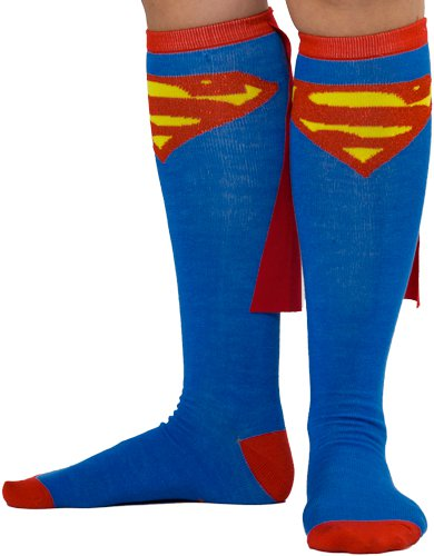 super man socks t shirt Knee High Superman Socks with Cape