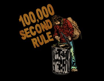 100000 second rule t shirt 100000 Second Rule T Shirt