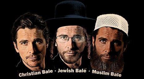 christian bale jewish bale muslim bale t shirt Christian Bale Jewish Bale Muslim Bale T Shirt