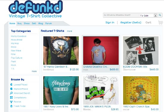 defunkd home page Defunkd: Shirt Shop Interview