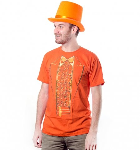 dumb dumber lloyd orange tux t shirt Dumb and Dumber Orange and Blue Tuxedo T Shirts