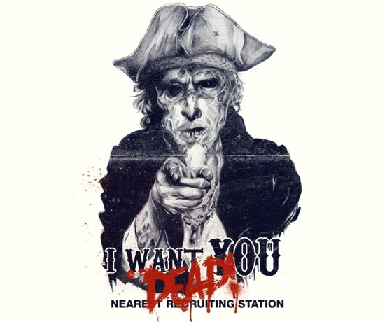 i want you dead t shirt Zombie Uncle Sam I Want You Dead T Shirt