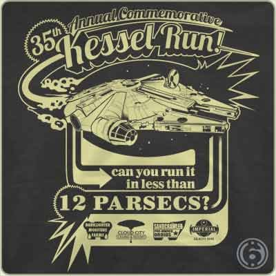 kessel run 12 parsecs t shirt 35th Annual Kessel Run T Shirt