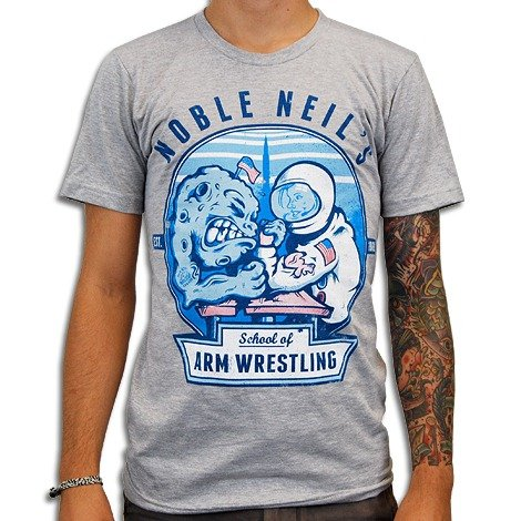 noble neils school of arm wrestling t shirt Noble Neils School of Armwrestling T Shirt