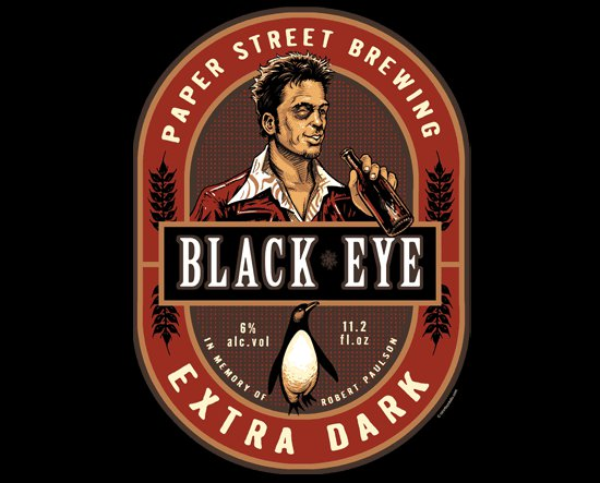paper street brewery black eye extra dark t shirt Paper Street Brewing Black Eye Extra Dark T Shirt