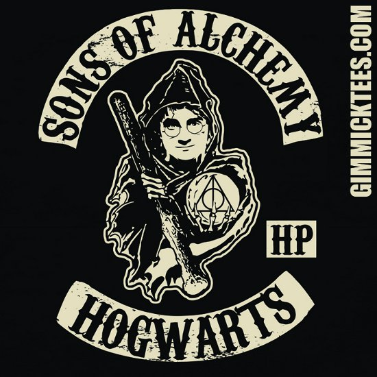 sons of alchemy hogwarts t shirt Harry Potter Sons of Alchemy Hogwarts T Shirt
