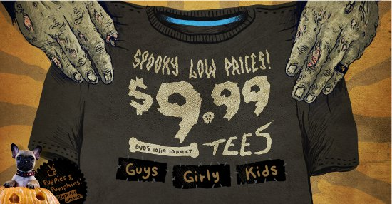 spooky low prices threadless sale Threadless Halloween Sale 2012