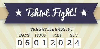 tshirt fight countdown clock Loki vs. Day of the Dead Girl Tshirt Fight