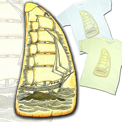 whale ship scrimshaw t shirt RadCakes: Shirt Shop Interview
