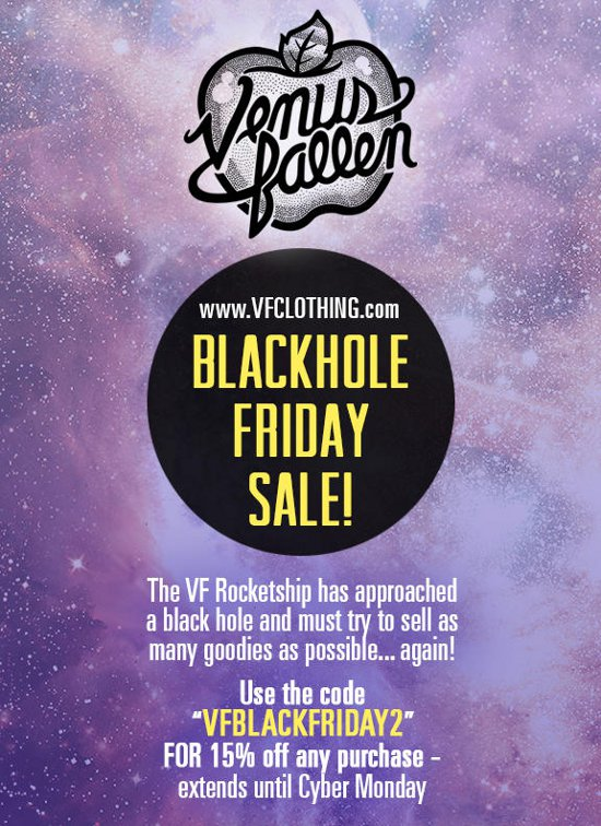 blackhole friday sale Venus Fallen Black Friday Sale 2012