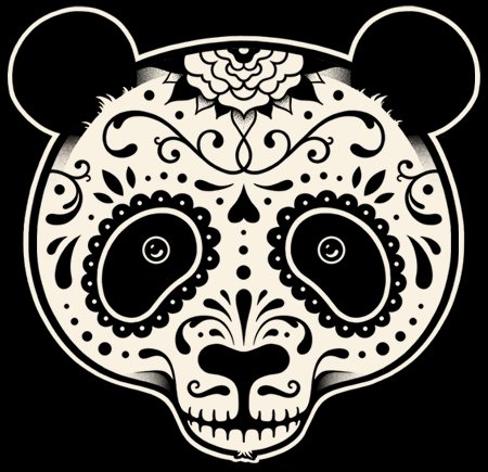 day of the dead panda t shirt Day of the Dead Panda T Shirt