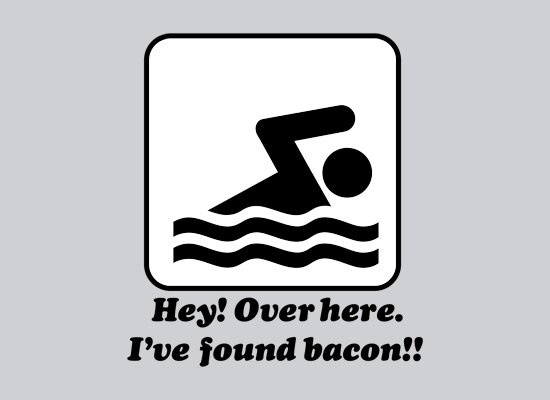 hey over here ive found bacon t shirt Hey Over Here I Found Bacon T Shirt