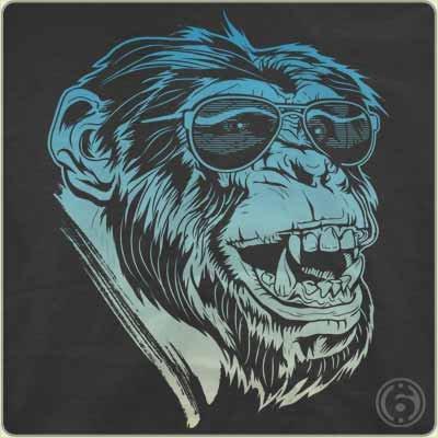 monkey shades t shirt Shaded Ape T Shirt