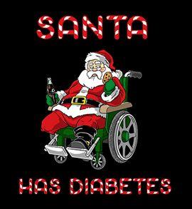 santa has diabetes t shirt Santa Has Diabetes T Shirt