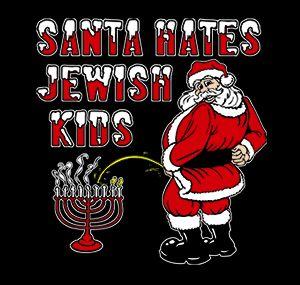 santa hates jewish kids t shirt Santa Hates Jewish Kids T Shirt