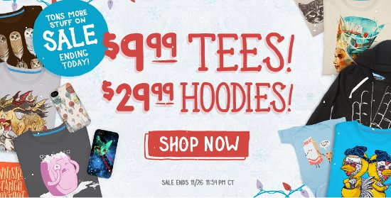 threadless cyber monday 2012 Threadless Cyber Monday Sale 2012