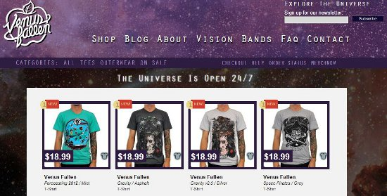 venus fallen screen cap Venus Fallen: Shirt Shop Interview