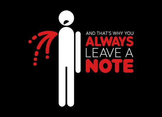 and thats why you always leave a note t shirt Always Leave a Note T Shirt