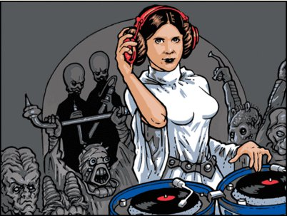 dj leia t shirt DJ Leia T Shirt