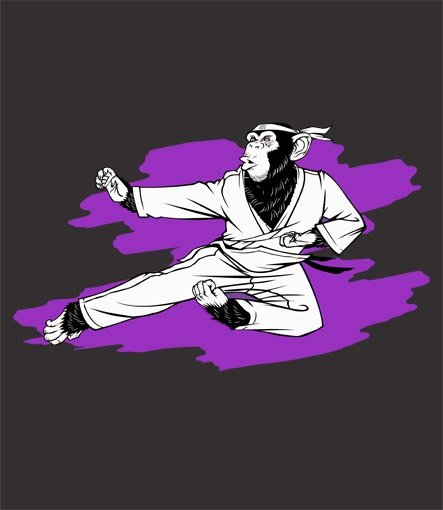 karate chimp t shirt Karate Chimp T Shirt