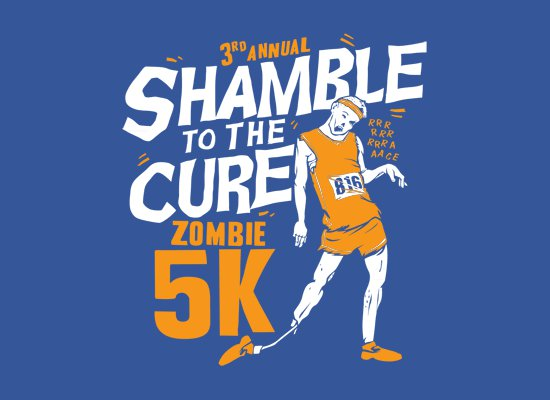 shamble to the cure zombie 5k t shirt Shamble to the Cure Zombie 5K T Shirt