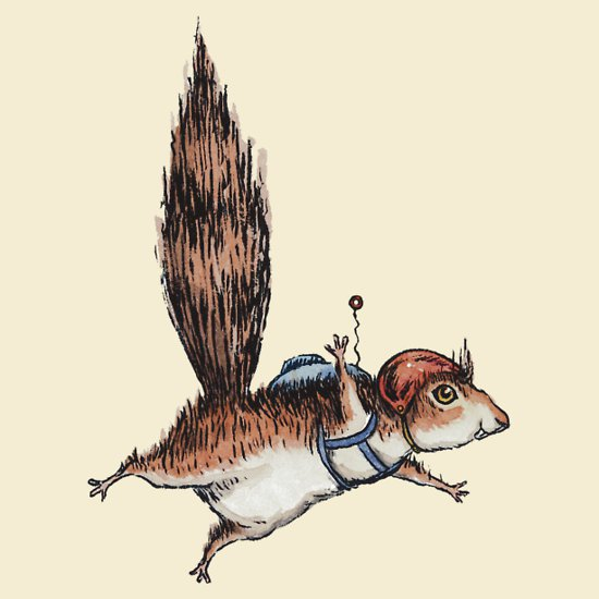 skydiver-squirrel-t-shirt