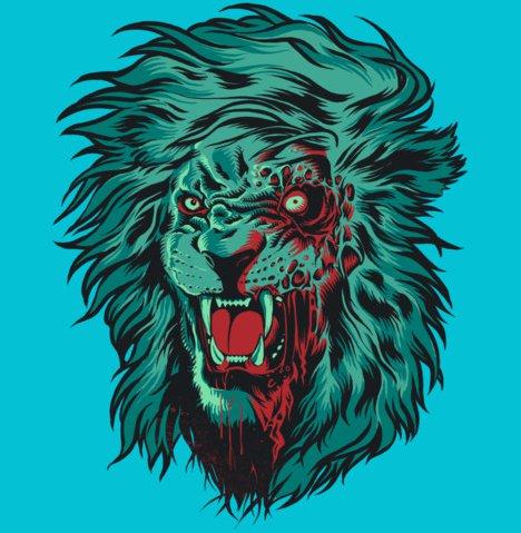 zombie lion t shirt Zombie Lion T Shirt