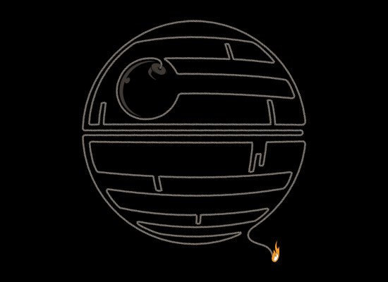 death star bomb t shirt Death Star Bomb T Shirt