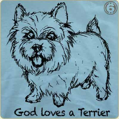 god loves a terrier t shirt God Loves A Terrier T Shirt