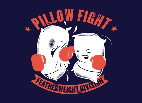 pillow fight feather weight division t shirt Pillow Fight Featherweight Division T Shirt