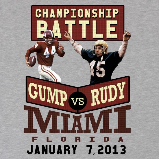 rudy vs gump t shirt Gump Vs. Rudy T Shirt