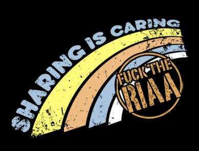 sharing is caring fuck the riaa t shirt Sharing is Caring Fuck the RIAA T Shirt