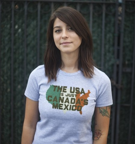 the usa is just canadas mexico t shirt The USA is Just Canadas Mexico T Shirt