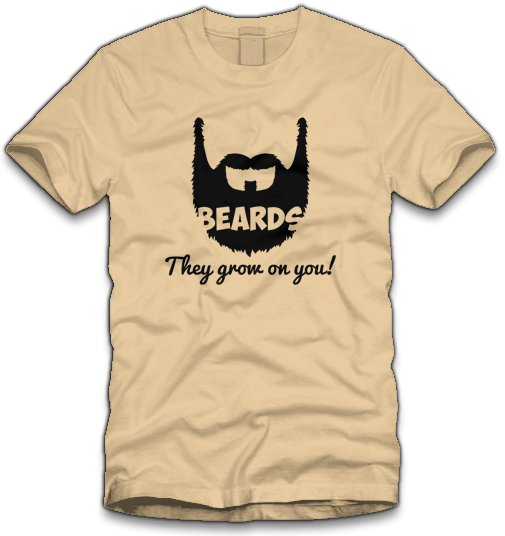 beards they grow on you t shirt Beards They Grow On You T Shirt