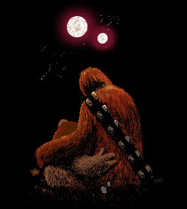 chewbacca ewok first date t shirt Chewbacca Ewok First Date T shirt