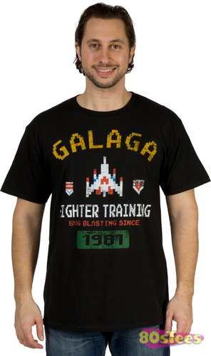 galaga fighter training t shirt Galaga Fighter Training T Shirt