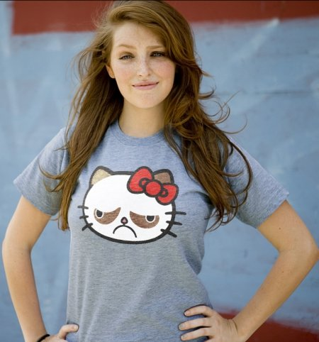 hello grumpy kitty t shirt Hello Grumpy T Shirt