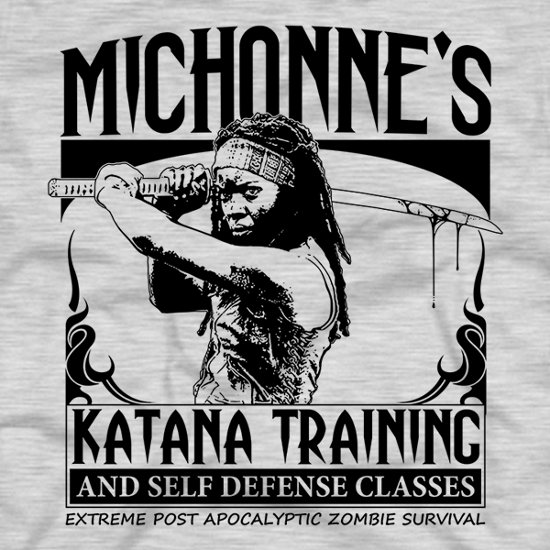 michonnes katana training t shirt Michonnes Katana Training And Self Defense Classes T Shirt