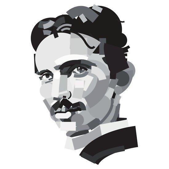 nikola tesla portrait t shirt Portrait of Nikola Tesla T Shirt