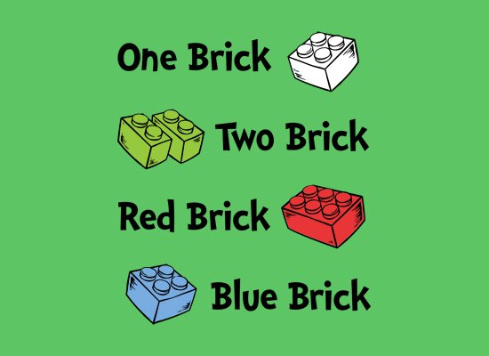 one brick two brick red brick blue brick t shirt One Brick Two Brick Red Brick Blue Brick T Shirt
