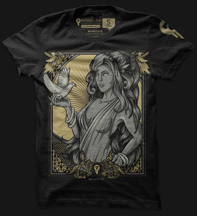 aphrodite t shirt Seventh.Ink: Shirt Shop Interview