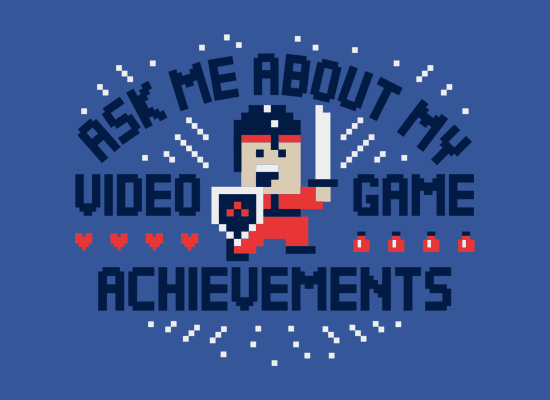 ask me about my video game achievements t shirt Ask Me About My Video Game Achievements T Shirt