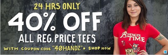 busted tees 40 off 03 2013 Busted Tees 40% Off